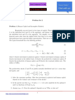 Economics Homework Sample Solutions