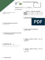 Examen Recuperacion Bimestral de Matematica 4