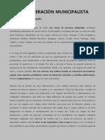 Manifiesto Confederación Municipalista