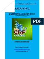 Corrected Final Draft of Icab Application Level Taxation 2 Syllabus Weight Based Question & Answer Bank Covering Finance Act 2017 (May June 2018 Exam Preparation Version