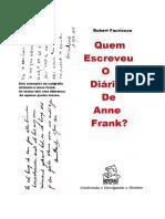 Quem Escreveu O Diário de Anne Frank