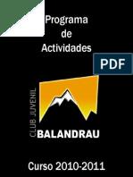Folleto de Actividades del Club Balandrau 2010-11