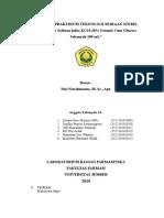 Laporan Praktikum Teknologi Sediaan Steril (Infus)