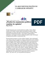 Dossier Hugo Merceir Razón, Emoción, Argumentación
