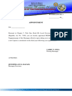 KP Form #2 (Appointment Letter)