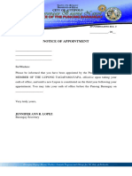 KP Form #3 (Notice of Appointment)