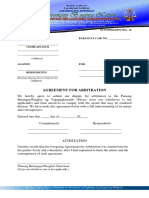 KP Form #14 (Agreement for Arbitration)