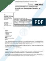 NBR 14910 - Embalagens de Vidro Para Produtos Alimenticios - Requisitos E Metodos de Ensaio