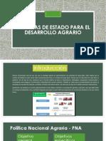 Diapositivas Políticas de Estado Para El Desarrollo Agrario