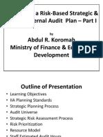 Risk Based Strategic Planning I
