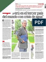 El Perú Es El Tercer País Del Mundo Con Crisis de Agua