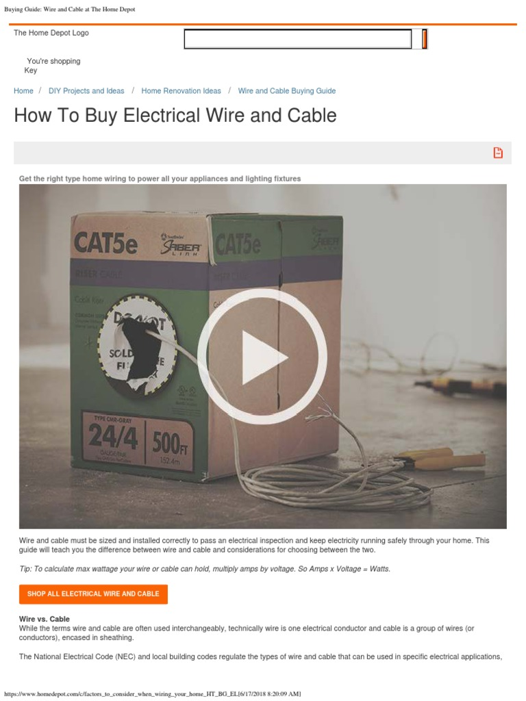 Buying Guide Wire and Cable at the Home Depot | Electrical ... on battery home depot, power supply home depot, hoses home depot, tires home depot, panels home depot, springs home depot, software home depot, lamps home depot, belts home depot, receptacles home depot, accessories home depot, appliances home depot, hvac home depot, wire home depot, painting home depot, tubing home depot, ceilings home depot, cabinets home depot, fuses home depot, filter home depot,