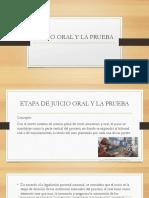 Etapa de Juicio Oral y La Prueba - Copia