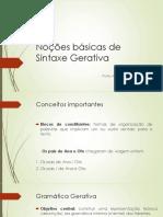 Noções Básicas de Sintaxe Gerativa - Lorenzo