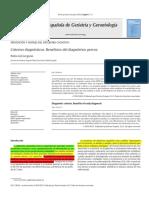Criterios Diagnósticos. Beneficios Del Diagnóstico Precoz (2016)