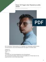 Zeit.de-diskriminierung Diese 33 Fragen Über Rassismus Sollte Man Sich Ehrlich Stellen