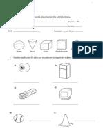 Prueba Geometria 3º Basico