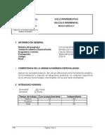 Micro curriculo Cálculo Diferencial CDX14 -2008