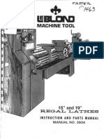 Leblond Lathe Manual 3934