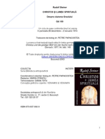 Rudolf Steiner Christos Si Lumea Spiritual A