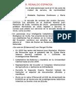 Biografia Del Dr. Reinaldo Espinosa