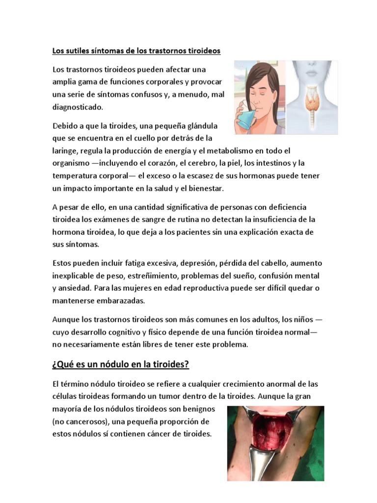 problemas tiroides mujeres sintomas