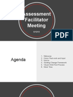 assessment process guiding change