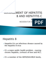 Management of Hep b and Hep c First