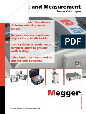 Megger Test and Measurments Power Catalogue pdf