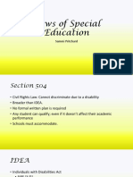 laws of special education