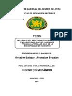 Influencia Del Mantenimiento Preventivo en La Disponibilidad Del Cargador Frontal Caterpillar 96