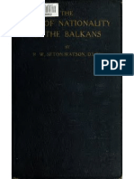 The Rise of Nationality in the Balkans by r. w. Seton-watson