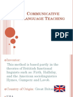 CLT- Communicative Language Teaching