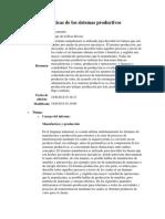 Características de Los Sistemas Productivos