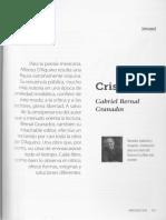 Cristales, De Gabriel Bernal Granados en CrÃ_tica