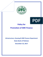 Policy for Promotion SME Finance
