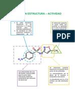 Sulfametoxazol- Relación Estructura Actividad curso Quimica Farmaceútica UNMSM