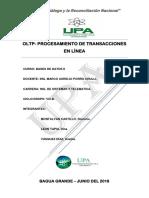 OLTP- PROCESAMIENTO DE TRANSACCIONES EN LINEA