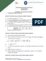 Subiect Cls 8 Model Testare Nationala