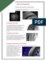 Tipos de Neumáticos clasificacion