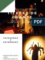 Dossier Personajes de Tejedoras y Chismosas-Titeres de Guante-Version Estandar
