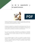 Antecedentes de La Capacitación y Desarrollo Del Capital Humano
