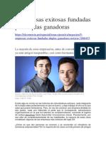 5 Empresas Exitosas Fundadas Por Duplas Ganadoras