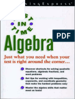 Just in Time Algebra