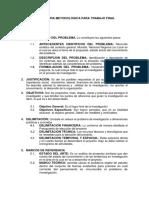 Estructura Metodologica Para Proyectos de Grado