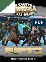 Savage RIFTS Archetypes Set 1