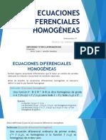 Ecuacion Homogeneas