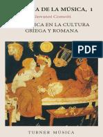 COMOTTI, G. - La Música en La Cultura Griega y Romana