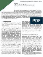 [Zeitschrift Fr Soziologie] Aspekte Der Medien-Theorie Welche Funktion Haben Die Medien in Handlungssystemen