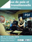 Université d'été - Processus de Paix et Justice transitionnelle - Programme définitif